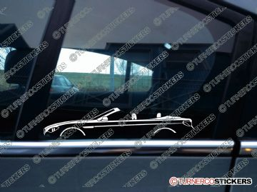 2x Car Silhouette sticker - BMW f12 6-series convertible 2011+